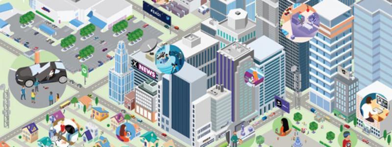 3D rendering of city