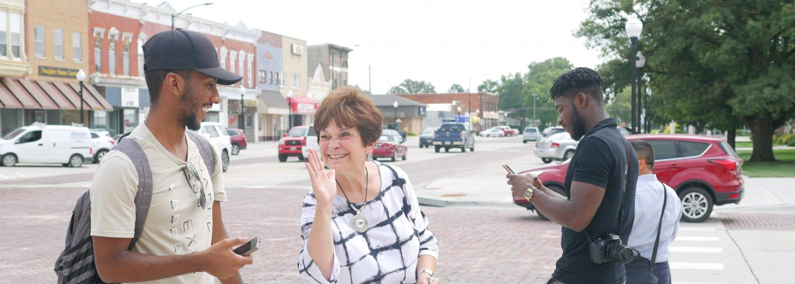 Students Touring David City to Assist with Economic Development Plan