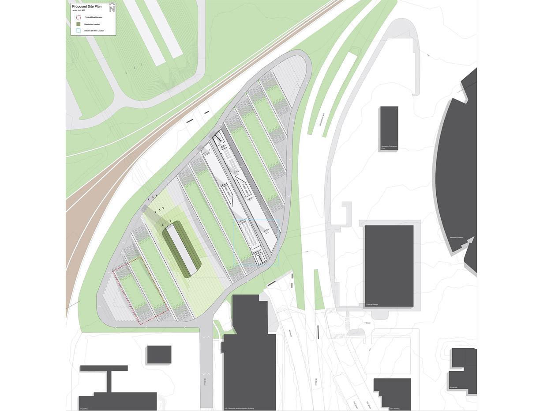 NU Tailgate Park Illustration